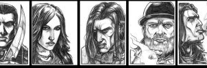 Character Portraits 1 by Silent-Black