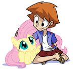 Fluttershy and Todo by tran4of3