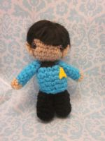 Wee Little Mister Spock Amigurumi by Spudsstitches