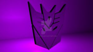 Transformers Decepticon logo purple angle by FTMPro