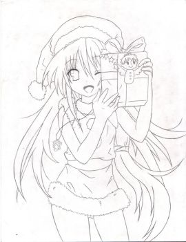 Merry Christmas Shana Lineart by Eduar14