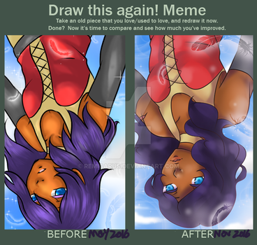 Bird set free (Before and after) by Remicarus