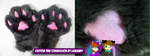Custom Paws with Sparkle Pads and Squeaker by OurMassHysteria