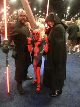 Lil Deadpool and Siths by SinfulEmotions