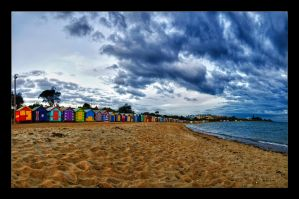 Brighton Beach Huts by WiDoWm4k3r