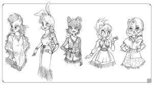 Southwest Fashions - Sketch Dump by danee313
