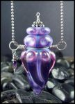 Moon Flower - Lampwork Bottle Pendant by andromeda