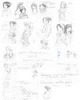 Note doodle sketchdump -APH- by Kaede-chama
