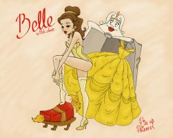 Belle. Pin up Princess by BzikO