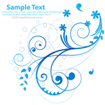 Blue-Floral-Vector by 123freevectors