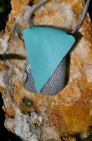 Aqua silver abstract rock by RamsEyeSupply
