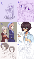 Collection of drawings #3 by Purichie