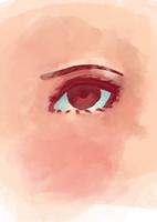 Messed Up Daiyu's Eye Practise by KamiCrazySpade