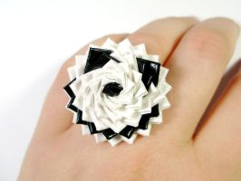 Grinning Duct Tape Skull Ring for Halloween by QuietMischief