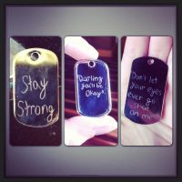 StayStrong: Healing Through Music Dog Tags by XxSierraRose