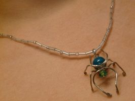 Itsy Bitsy Spider Necklace by Eliea