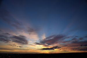 Sunrise from Downtown Denver by sidharth0384