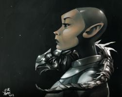 spacewoman by jether