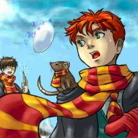 Harry Potter - Snowball Fight by famira