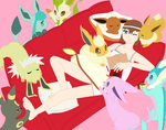Gem And All Eevees by V1EWT1FUL