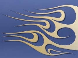flames - yellowblue metal by jbensch