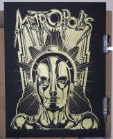 Metropolis-Screen Print Poster by 4gottenlore