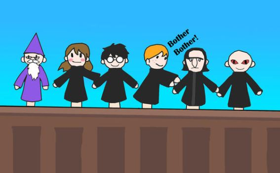 potter puppet pals: THE CAST by greyhood97