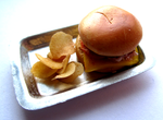 Miniature Hamburger with Chips by sonickingscrewdriver