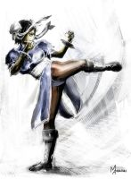 CHUN-LI speed-paint by mansarali