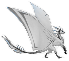 Adoptable #4 | White Dragon [sold] by LunAdopts