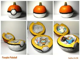 Pumpkin Pokeball by MapleRose