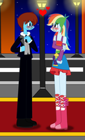 RQ - Cameron X Rainbow Dash in prom clothes by lovesdrawing721