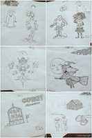 Story Drawings Sketches by minicosmicgirl