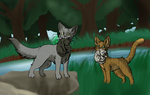 Graystripe and Fireheart by JenniferJK