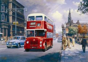 Endinburgh Princes Street 1959 by Artistjeffries