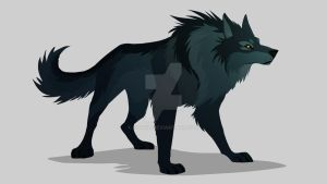 standard wolf by isawic