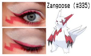Pokemakeup 335 Zangoose by nazzara