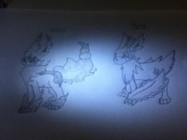 My Ghost and Flying eevee by Demonic-Twins