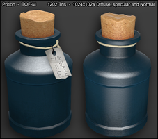 Skyrim styled potion by TheOneFree-man