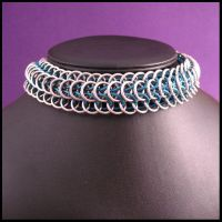Chainmaille Choker by redpandachainmail