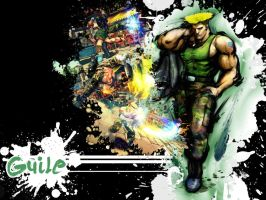 SFIV Splatter Guile by Vegett0