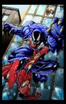 SPIDEY VS. VENOM by KYLE-CHANEY