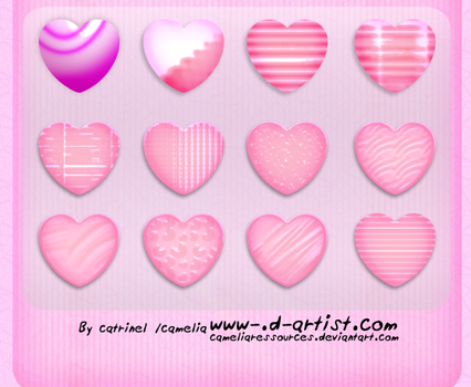 Pink photoshop layer styles 6 by cameliaRessources
