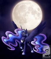 The moon beyond the stars by Japandragon