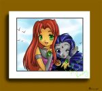 Starfire's Photo-op by Shimoyo by teentitans