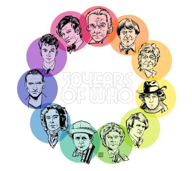 Fifty Years of Doctor Who by Tony Shasteen by AshcanAllstars