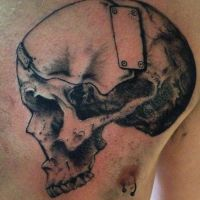 Busted skull by Daggerss