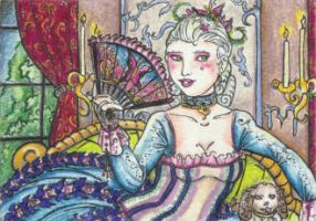 Madame Papillon (ACEO) by Keyshe54