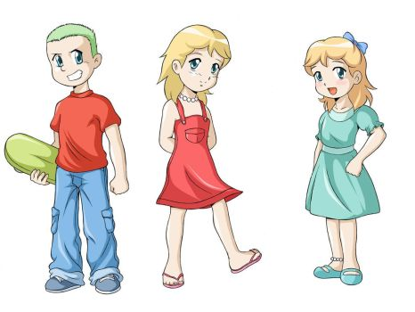 Character design, Simpson kids by Yet-One-More-Idiot
