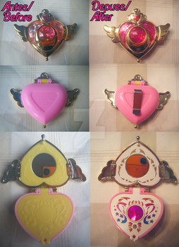 Customized Moon Crisis Gashapon Compact by kiddysa-bunnpire
